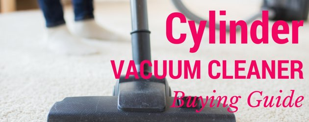 Picture of a woman using a cylinder vacuum
