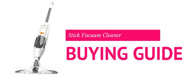 Picture of a stick vacuum cleaner with slogan