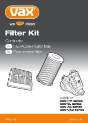Picture of a pack of Vax replacement filters