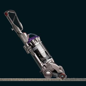 Picture of a dyson upright vacuum at a reclining angle